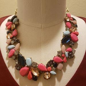 J.Crew Pink Wreath Necklace